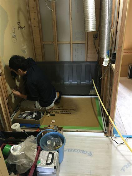 57 東三国のM様邸木のマンションリノベーションユニットバス施工