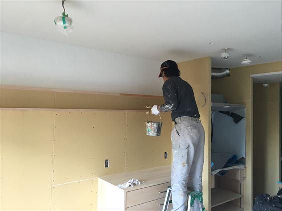 81 東三国のM様邸木のマンションリノベーション木部塗装
