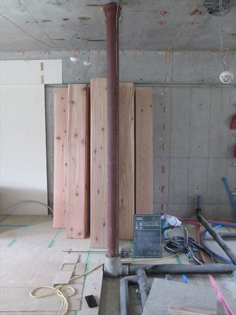 23 東三国のM様邸木のマンションリノベーション吉野杉床材