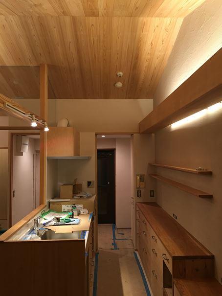 11 豊中 木のマンションリノベーション 照明