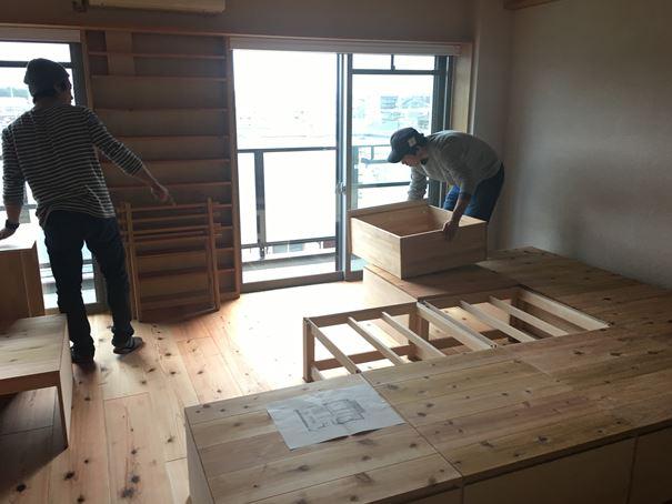 18 豊中 木のマンションリノベーション 小上がり