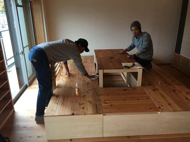19 豊中 木のマンションリノベーション 小上がり