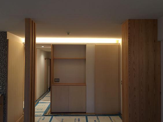 15 東三国のM様邸木のマンションリノベーション照明器具