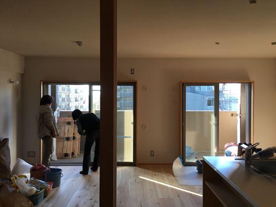 24 東三国のM様邸木のマンションリノベーション養生めくり
