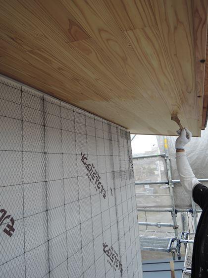 27 西宮H様邸外部木部塗装