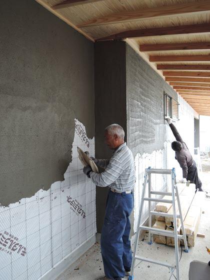 28 西宮H様邸外部そとん壁下塗り