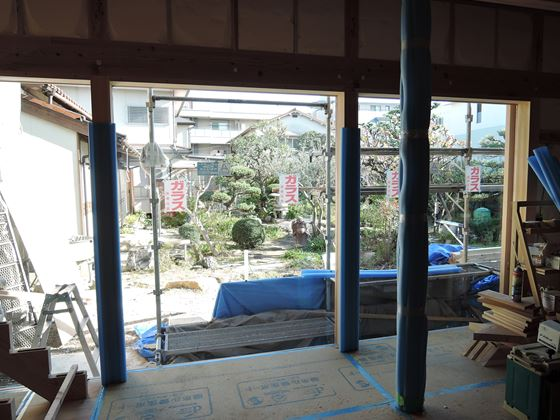 44 西宮H様邸外部木製建具ガラス入れ