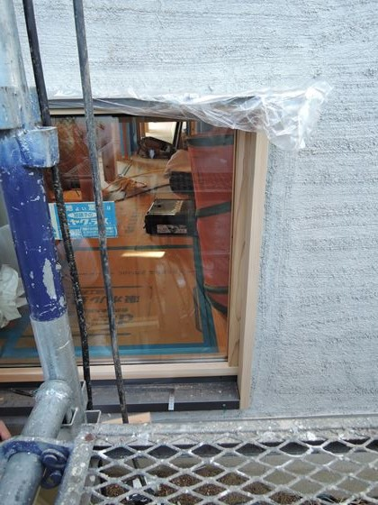 45 西宮H様邸外部木製建具ガラス入れ