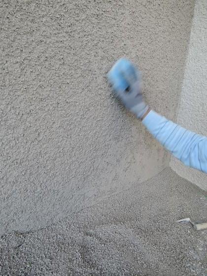 53 西宮H様邸外部そとん壁上塗り