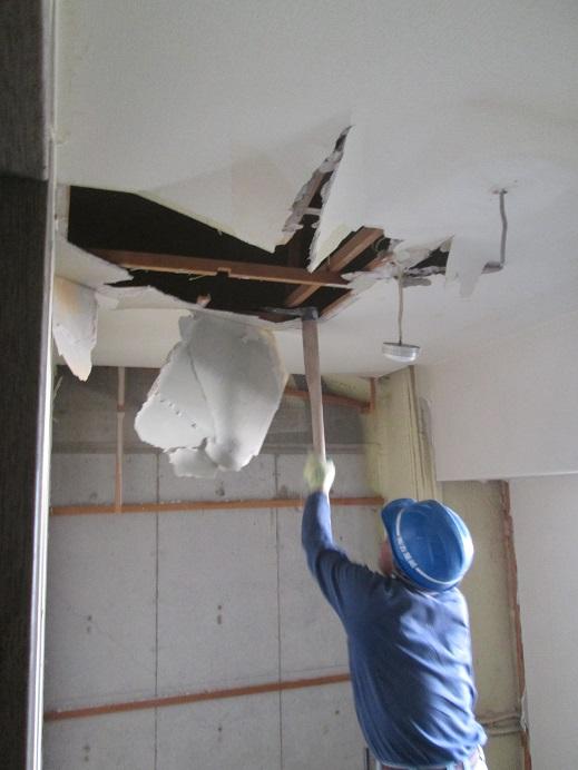 1  貝塚U様邸国産材を使用した木のマンションリノベーション 解体