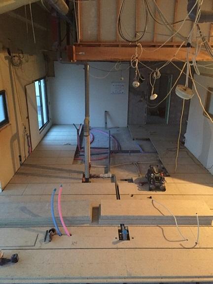 13 貝塚U様邸国産材を使用した木のマンションリノベーション 乾式二重床施工