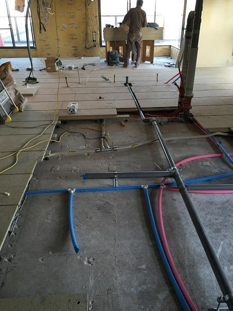 15 貝塚U様邸国産材を使用した木のマンションリノベーション 乾式二重床施工
