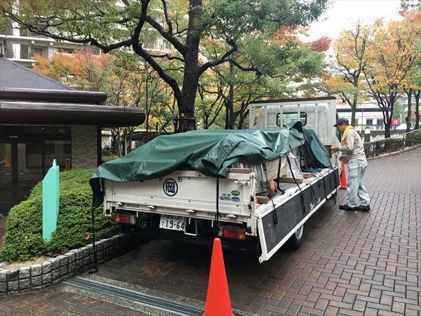 17 貝塚U様邸国産材を使用した木のマンションリノベーション 吉野杉搬入_R