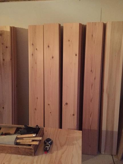 20 貝塚U様邸国産材を使用した木のマンションリノベーション 吉野杉搬入