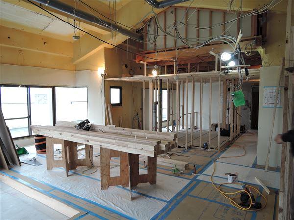 24 貝塚U様邸国産材を使用した木のマンションリノベーション 下地_R