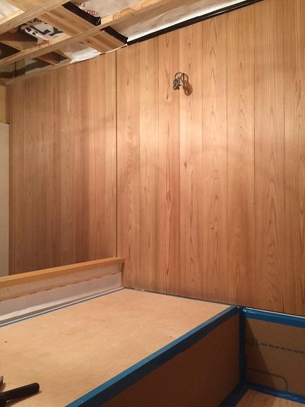33 貝塚U様邸国産材を使用した木のマンションリノベーション お風呂 杉