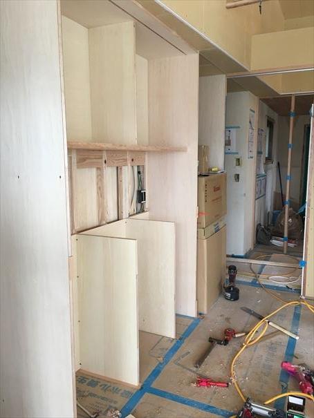37 貝塚U様邸国産材を使用した木のマンションリノベーション 大工造作家具 _R