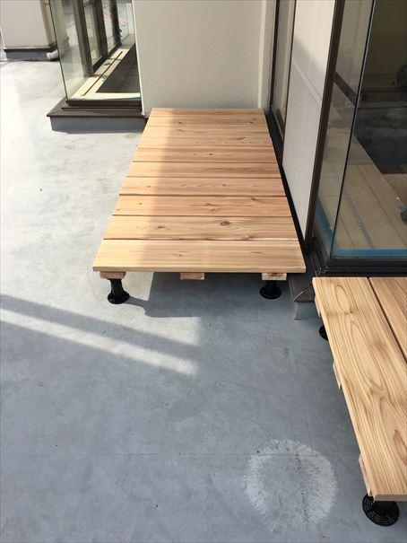 46 貝塚U様邸国産材を使用した木のマンションリノベーション ウッドデッキ_R