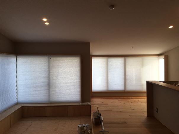 68 貝塚U様邸国産材を使用した木のマンションリノベーション ハニカムブラインド工事_R