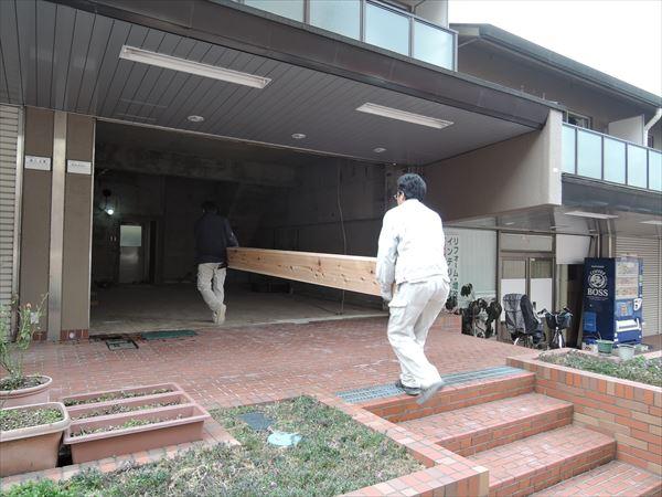25 吹田山田 戸建てマンションリノベーション構造材搬入_R