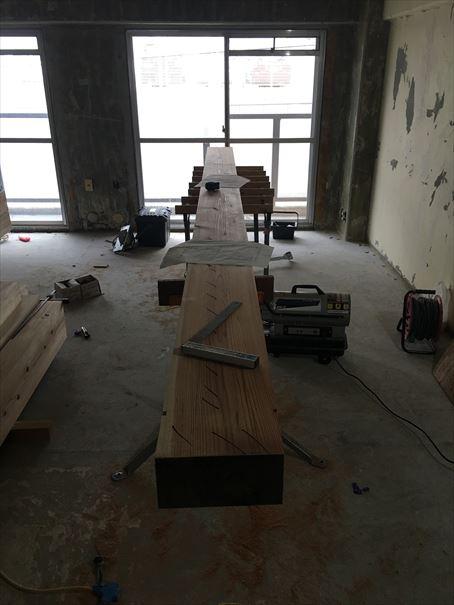 26 吹田山田 戸建てマンションリノベーション構造材搬入_R