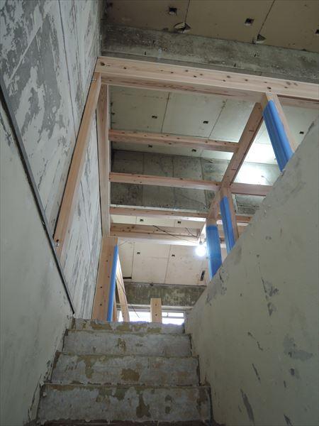 47 吹田山田 戸建てマンションリノベーション構造材組み_R
