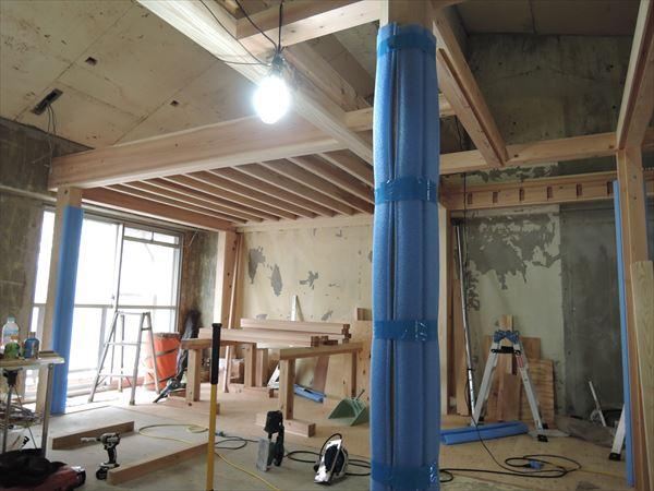 48 吹田山田 戸建てマンションリノベーション構造材組み_R