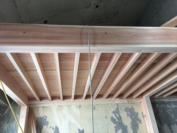 56 吹田山田 戸建てマンションリノベーション構造材組み_R