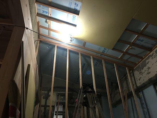 77 吹田山田 戸建てマンションリノベーション天井ボード_R